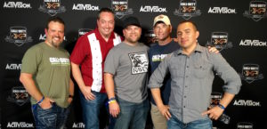 Call of Duty Infinite Warfare panel with Certain Affinity, Infinity Ward, Raven Software, and Activision