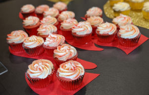 CA 200 employee celebration cupcakes on certain affinity flame logo