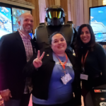 Members of Certain Affinity and Master Chief enjoying their time at Video Games on the Hill 2020