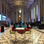 The room of Video Games on the Hill before opening to attendees