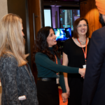 Mojdeh Gharbi shaking hands with Navdeep Bains, Minister of Innovation, Science and Economic Development during Video Games on the Hill 2020