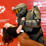 Master Chief showing off his best moves at Video Games on the Hill 2020